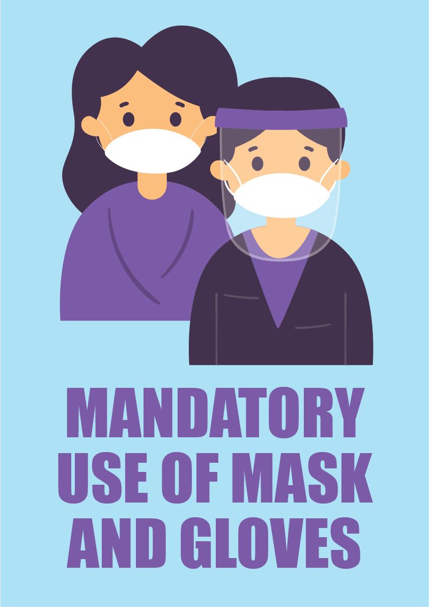 mandatory use of mask 3