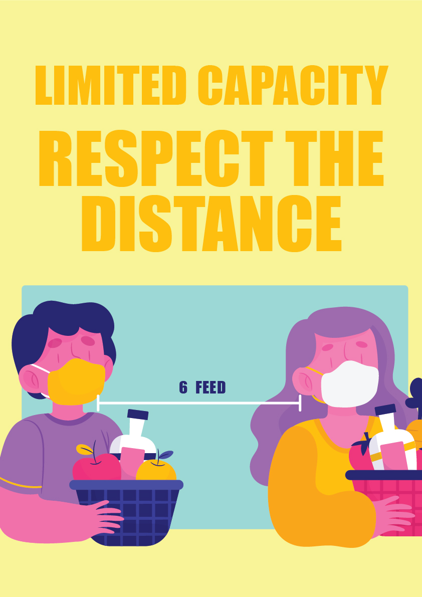 Limited capacity – respect distance 3