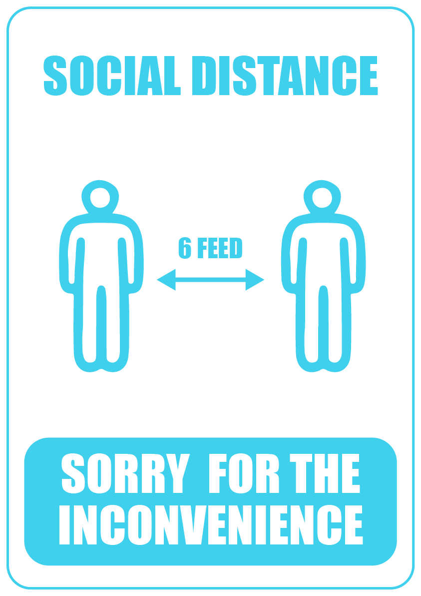 social distance sorry for the inconvenience 1