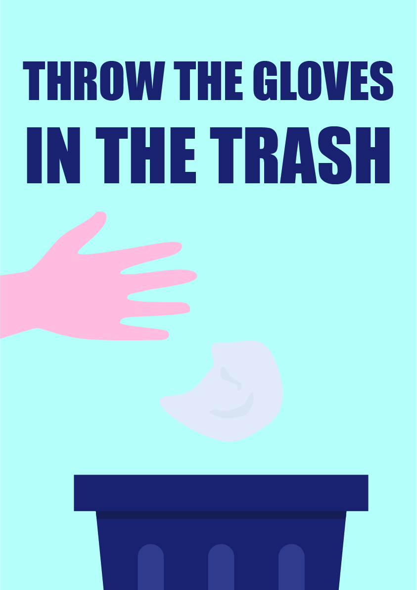 throw the gloves in the trash 3